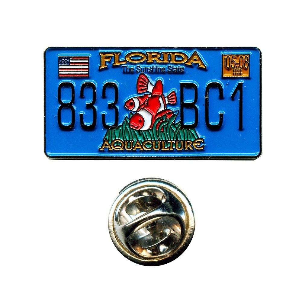 Florida Autokennzeichen FL USA US Bundesstaaten Amerika Badge Pin Anstecker 0673 Import/hegibaer