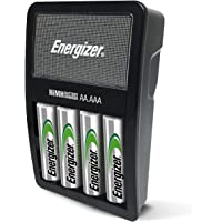 Energizer Maxi Battery Charger, Charges NiMH Rechargeable AA and AAA Batteries (4 AA Rechargeable Batteries Included)
