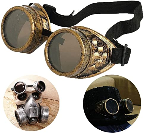 NEW Vintage SteamPunk Safety Goggles Plastic Glass