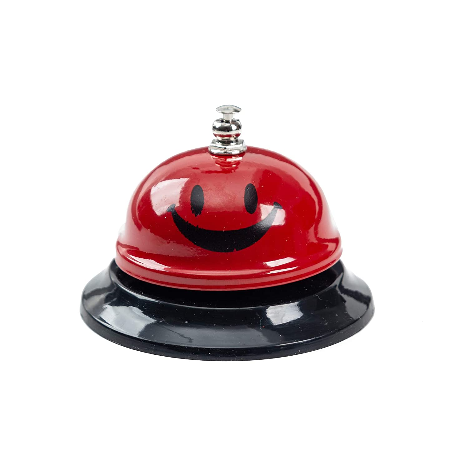 Silver Hotels Durable Pleasant Shops Dining Bell Call Bell 3.35 Inch Diameter Suitable for Hospitals,Schools,Restaurants Customer Service Call Bell for Elderly.Small Desk Bell