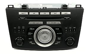 2010 Mazda 3 AM FM Tuner & Receiver MP3 6 Disc CD Changer in Dash PN BBM466ARXB