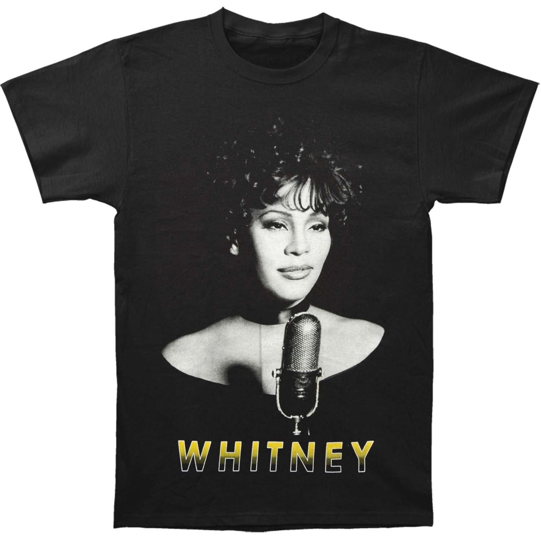 Whitney Houston Microphone B W T Shirt 2919