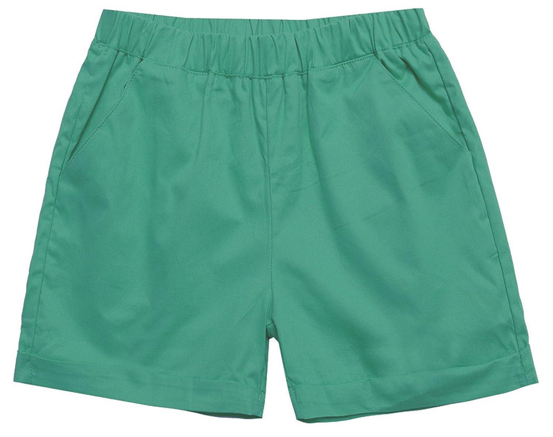 Chouyatou Women's Casual Elastic Waist Turn-Up Shorts Various Color