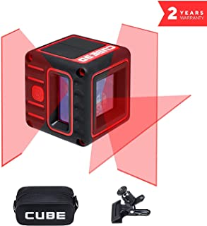 ADA Cube 3D Professional Edition - Cross Self-Leveling Laser Level Kit, 65 ft Range (230 ft w/Laser Receiver). 2 Vertical and 1 Horizontal Lines