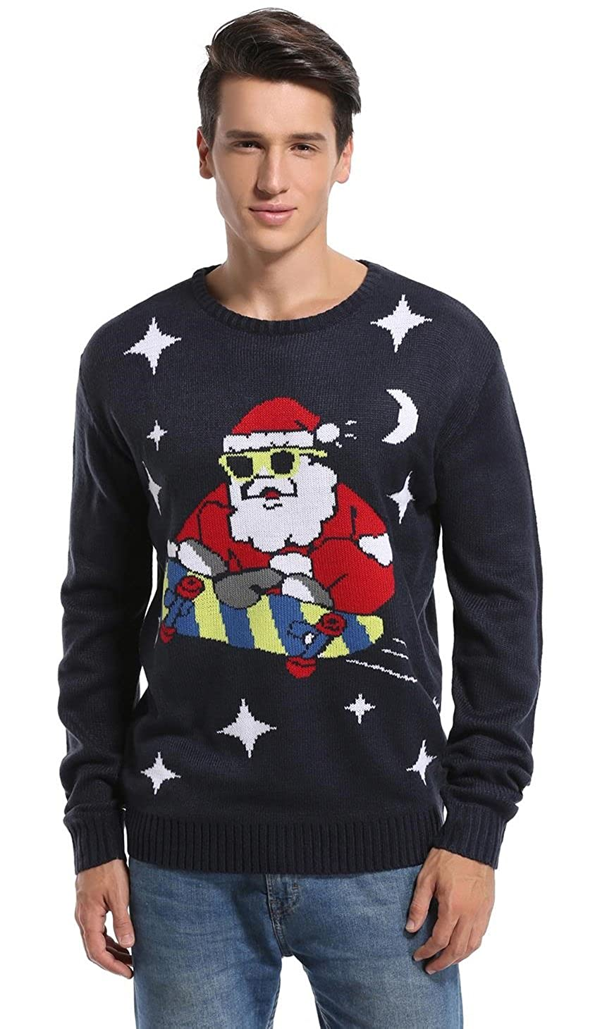 *daisysboutique** Men's Christmas Holiday Santa Sweater Cute Ugly Pullover