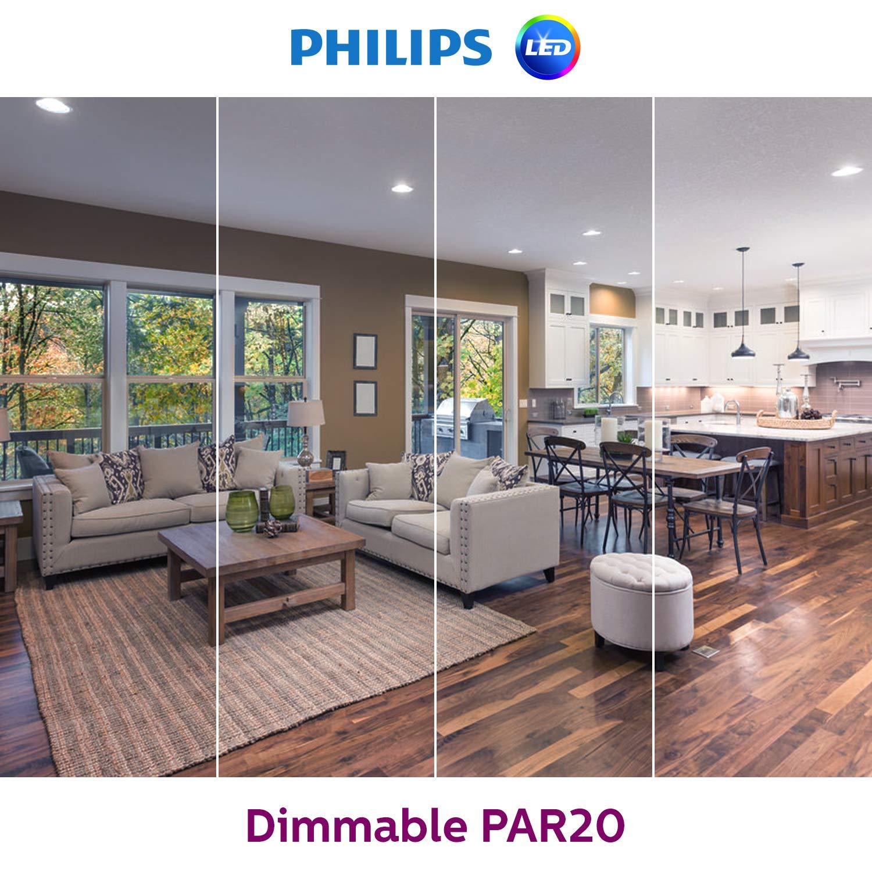 6-Watt E26 Base 50-Watt Equivalent Philips LED PAR20 Dimmable 35-Degree Spot Light Bulb: 520-Lumen 6-Pack 463869 Daylight 5000-Kelvin