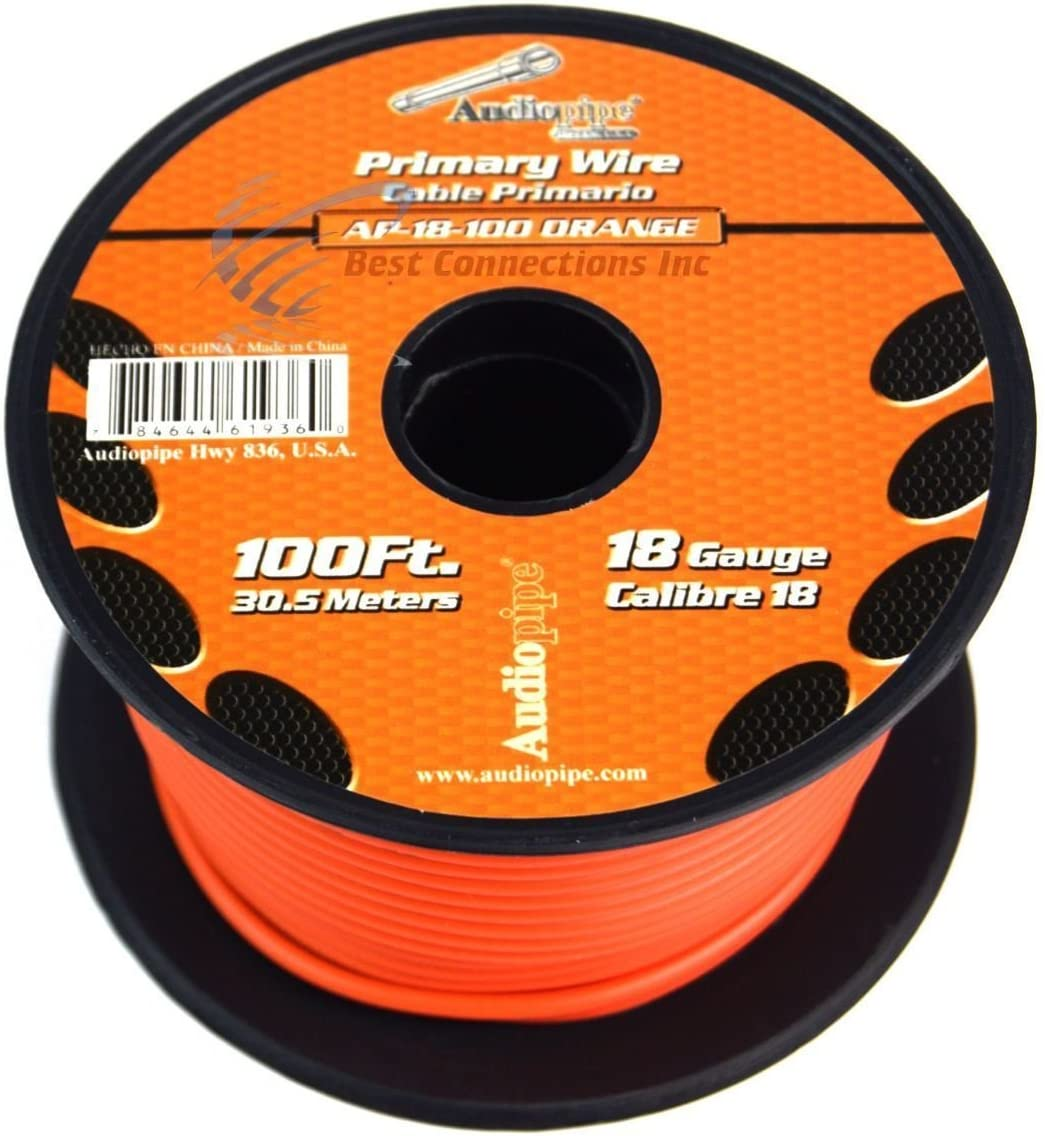 11 Rolls Audiopipe 18 GA 100 Feet Primary Power Wire Remote Car Audio Home