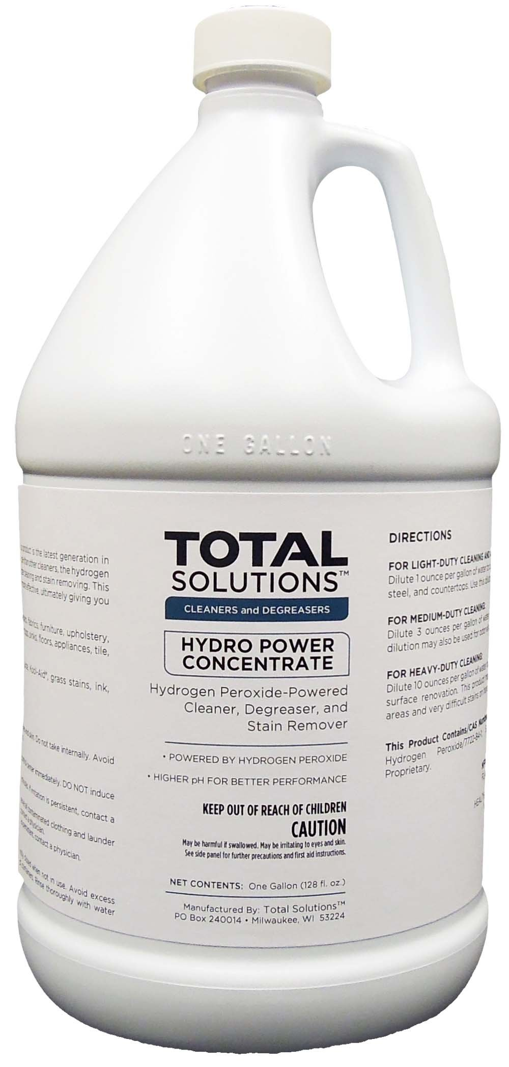 Hydro Power Concentrate, Multi-Surface Cleaner Powered by Hydrogen Peroxide- 4X1 Gallon Case by EcoClean Solutions