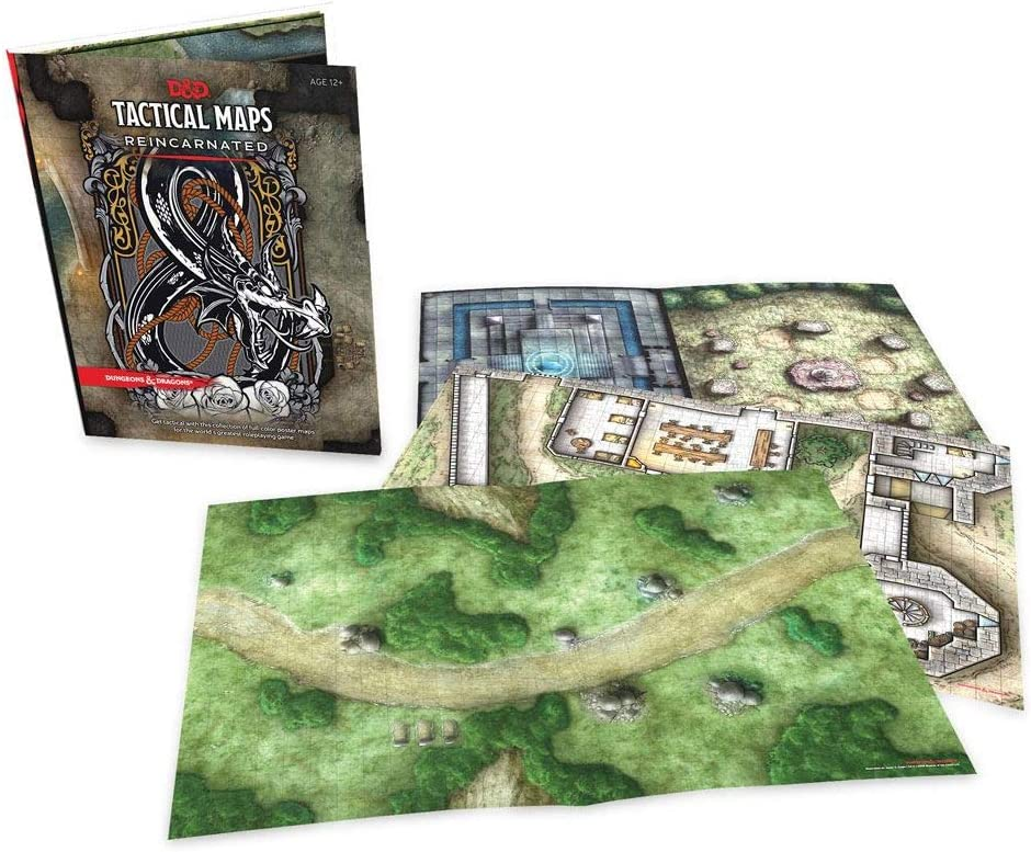 Mazmorras y Dragones mapas tácticos reencarnados: Amazon.es: Juguetes y juegos