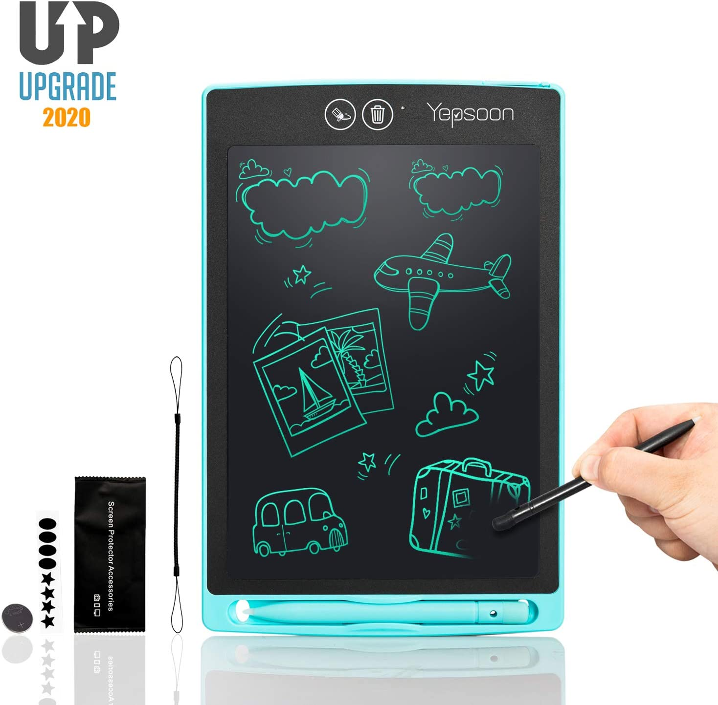 ZSHXF 8.5 Inch Colorful LCD Writing Tablet for Kids Portable Electronic Writing Board Drawing Board with Lock Switch Doodle Board for Kids Home School