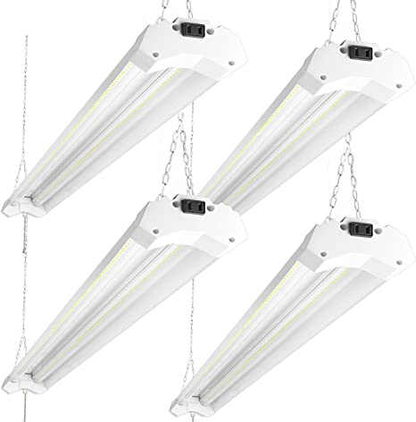 3 Pack 4 Ft 40W 5000k LED Garage Work Shop light Fixture Hanging with Pull Chain