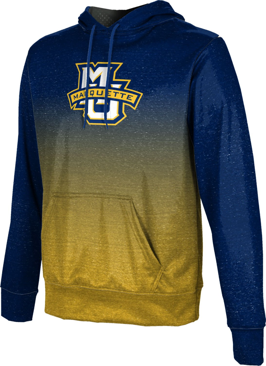 ProSphere Marquette University Boys' Pullover Hoodie, School Spirit Sweatshirt (Ombre) FD001 Navy and Gold