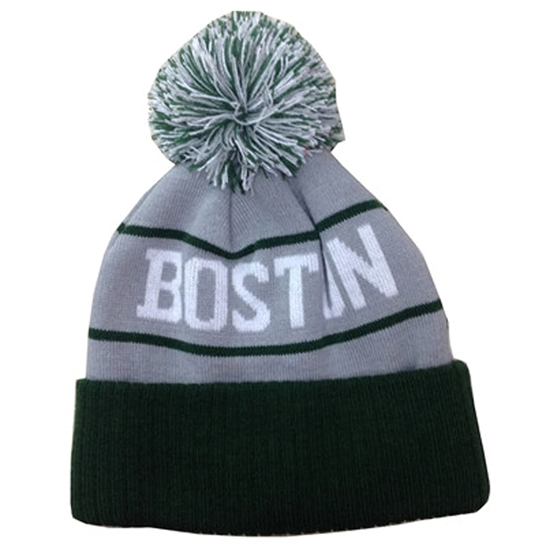 Amazon.com  Stony West American Cities USA Favorite City Cuff Cable Knit  Winter Pom Pom Beanie Hat Cap (Boston - Gray Green)  Clothing 8b153cbf0d4b