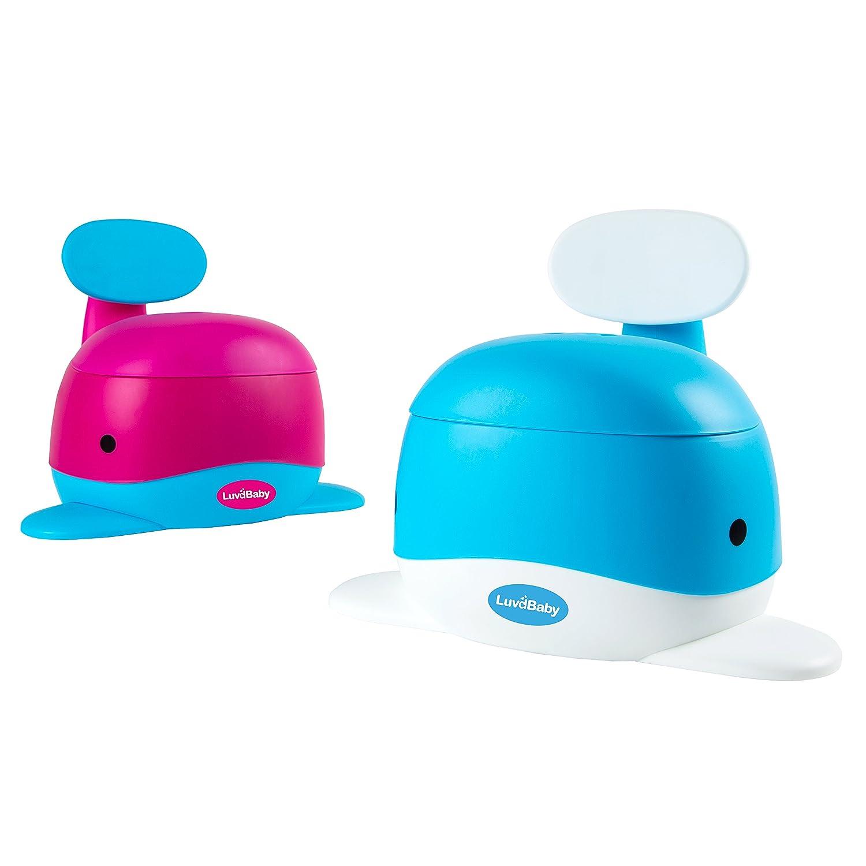 Walfisch-Töpfchen-Sitz – Lustiger Sitz für das Toiletten Training für Jungen und Mädchen – Stabil und bequem für Ihr Kleinkind (blau) Luvdbaby