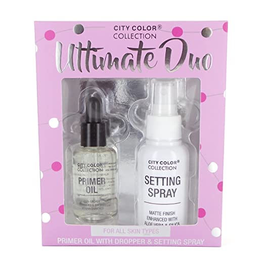 Amazon.com: City Color Collection Ultimate duo Primer oil with Dropper & Setting Spray: Beauty