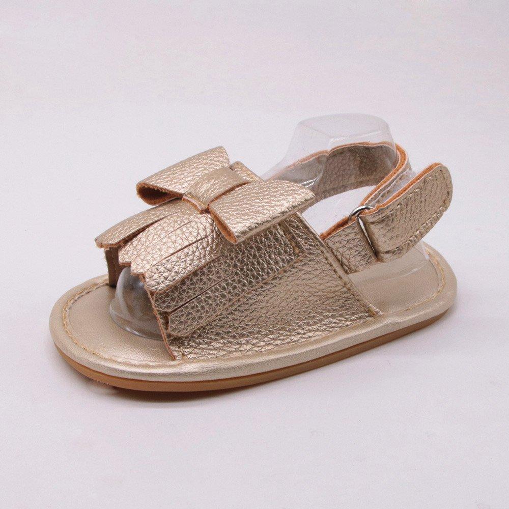 Lurryly Baby Soft Sole Bowknot Shoes Sale!Toddler Newborn Kids Solid Tassels Prewalker 12-18M