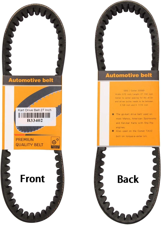 Go Kart Drive Belt 30 Series Replaces Manco 5959 / Comet 203589(Pack Manco Scorpion Go Kart Wiring Diagram on