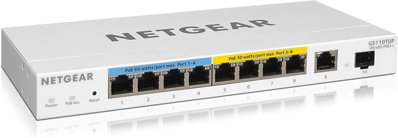 Netgear Gs110tup 10 Port Gigabit Ethernet Ultra60 Poe Computer Zubehör