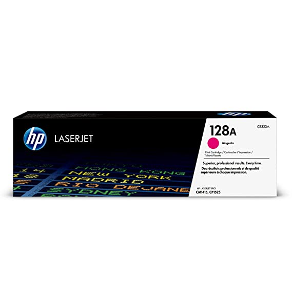 HP 128A CE323A Laserjet Toner Cartridge (Red) Toner Cartridges at amazon