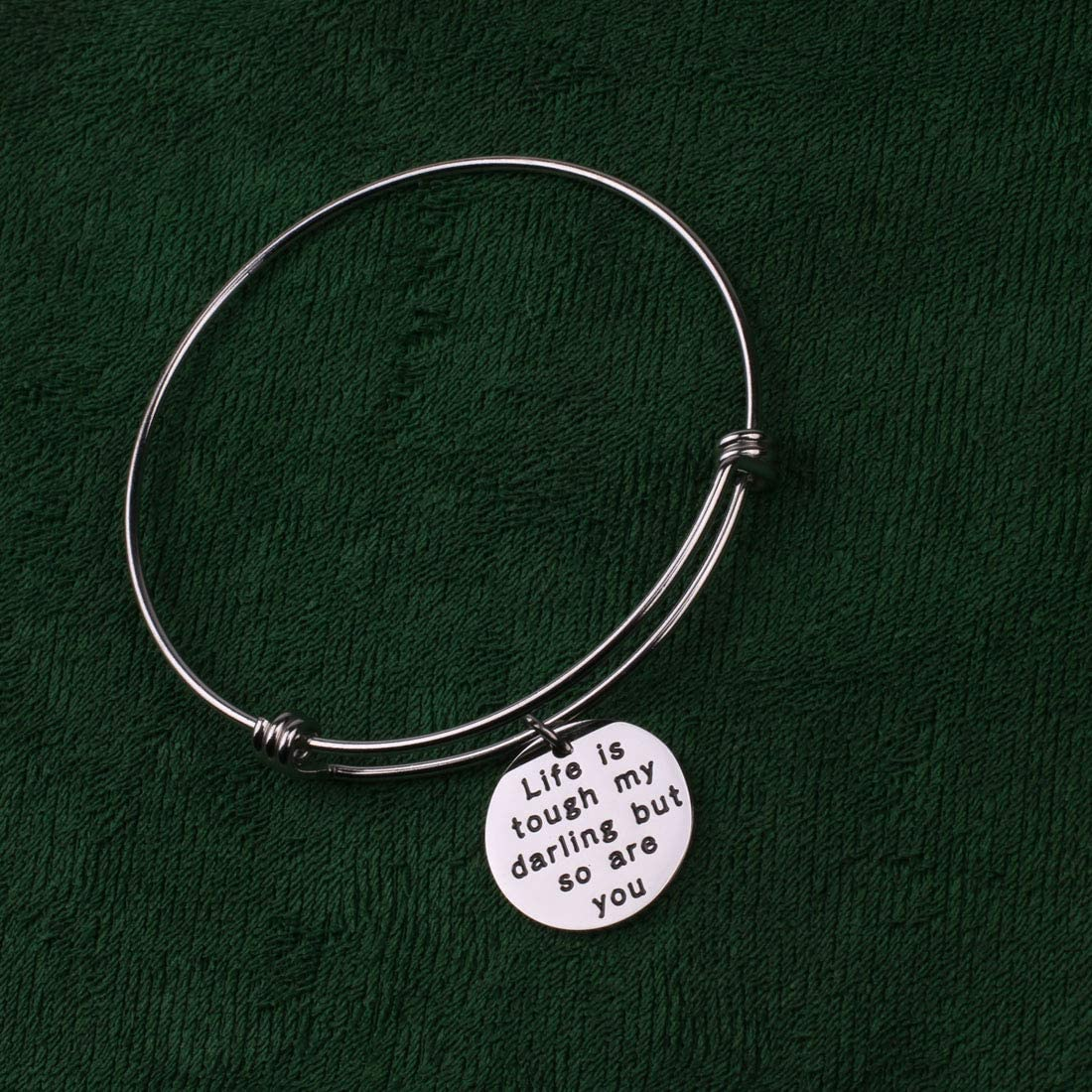 Anlive Life is Tough My Darling But So are You Encouragement Bracelet Illness Recovery Gift