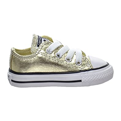bf104f78602e Converse Kids Girls  Chuck Taylor All Star Metallic Canvas Ox  (Infant Toddler)