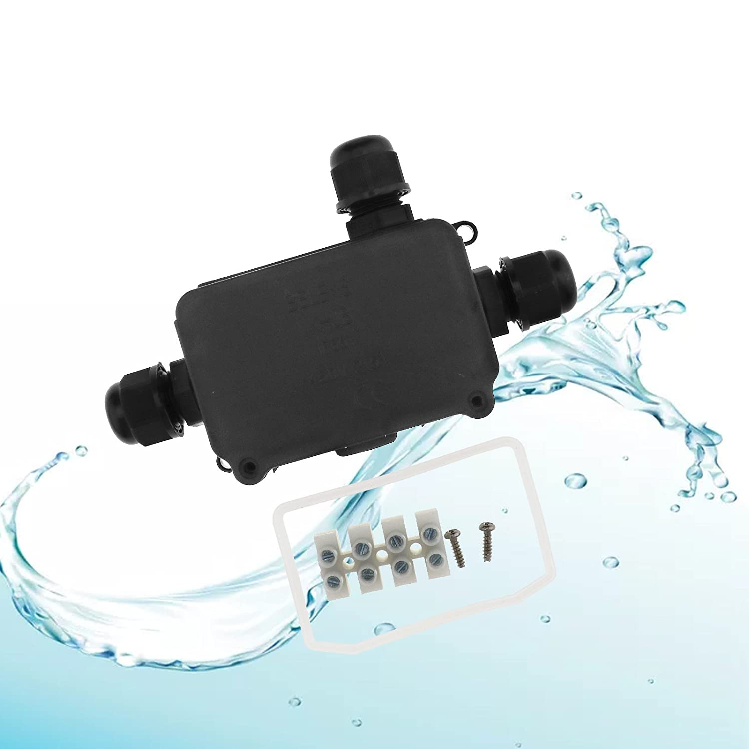 SING F LTD 3 Way IP66 Junction Box Waterproof Case Electrical Cable Wire Connector with CE