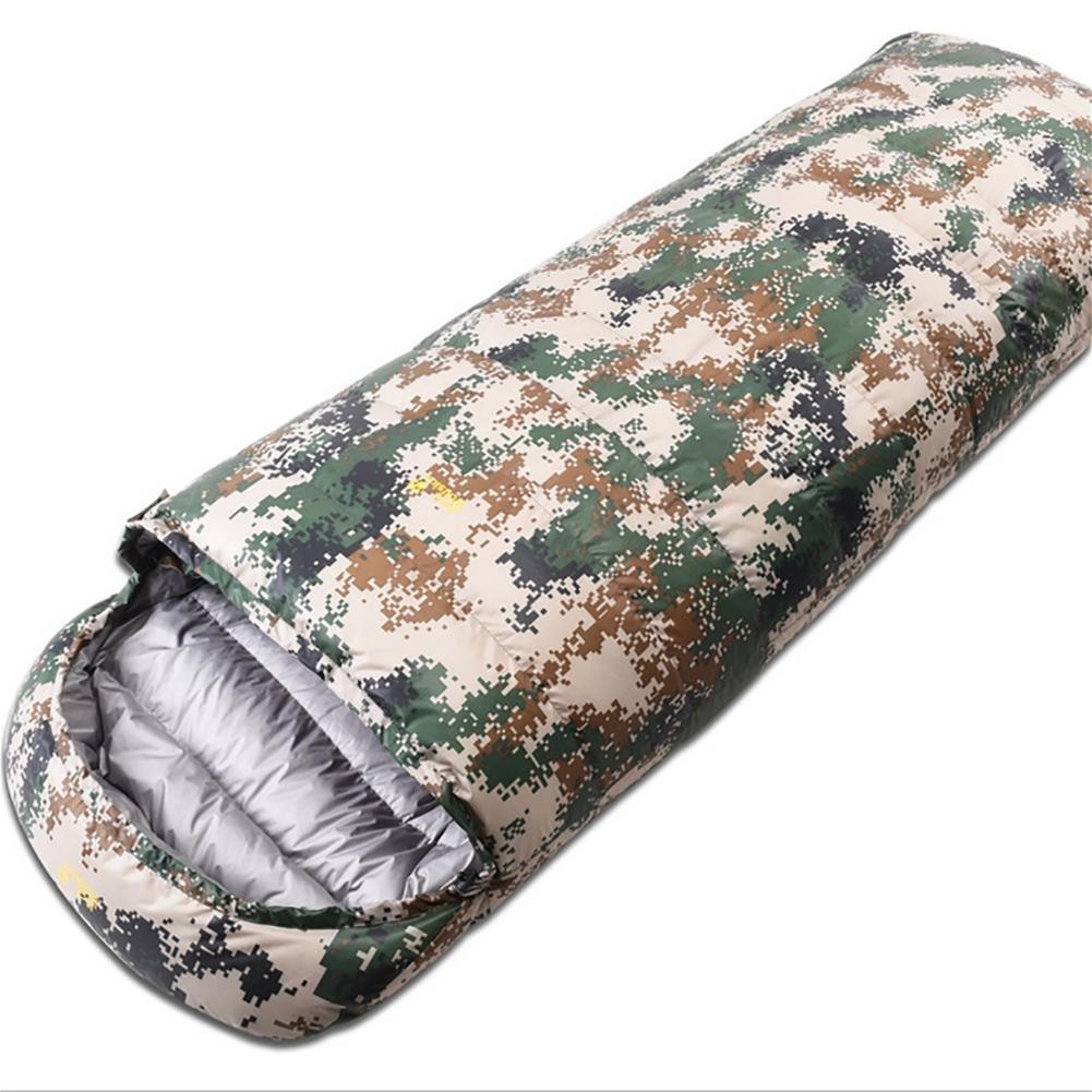 MIAO al aire libre para adultos acampar saco de dormir de plumas de camuflaje, A: Amazon.es: Deportes y aire libre
