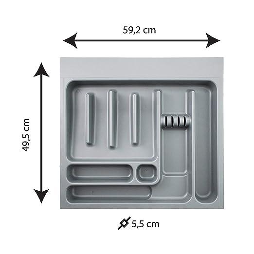 Bandeja de cubertería Coninx Up | Con 8 compartimentos | Para cajónes de 60cm | Dimensiones: 53 x 49 x 6 cm | 2 años de garantía: Amazon.es: Hogar