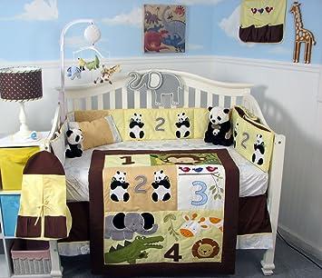 amazon com soho 1234 jungle friends baby crib nursery bedding set