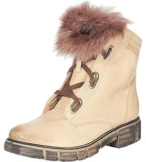 Hollert Femmes Peau de Mouton Bottines HT-300 Chaussures d hiver Boots  Echtfellbesatz de 5e483f14d066