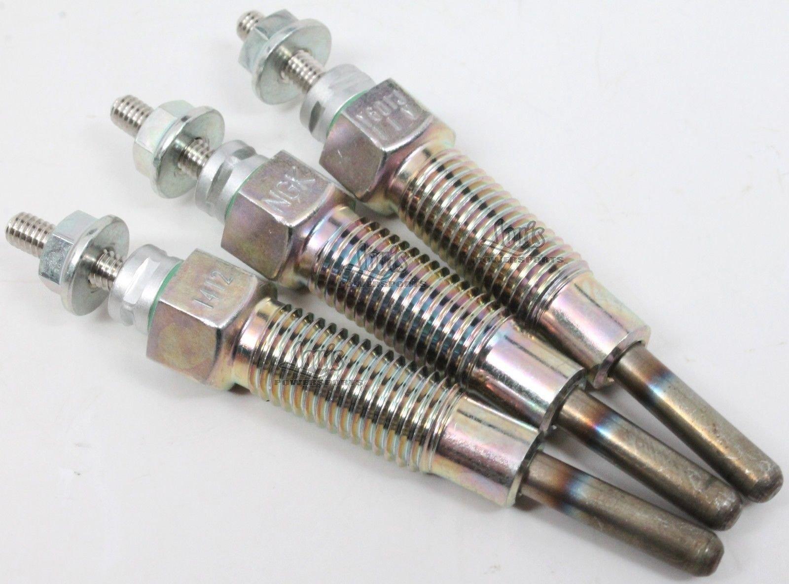 Kawasaki Mule 2510 3010 4010 Diesel 2000-2013 3 Pack Glow Plugs 49036-0001 New OEM
