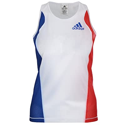 adidas Performance Womens Running Sleeveless Singlet Vest - White
