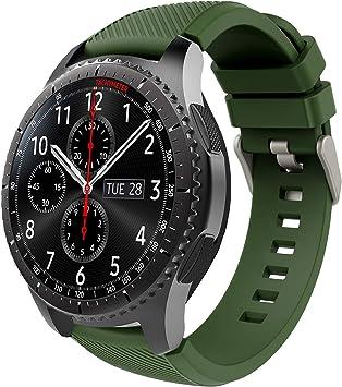 TiMOVO Pulsera para Samsung Gear S3 Frontier/Galaxy Watch 46mm, Pulsera de Silicona, Correa de Reloj Deportivo, Banda de Reloj de Silicona: Amazon.es: Electrónica