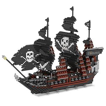 Amazon.com: Rikuzo Caribbean Pirate Black Pearl Ship Model Building ...