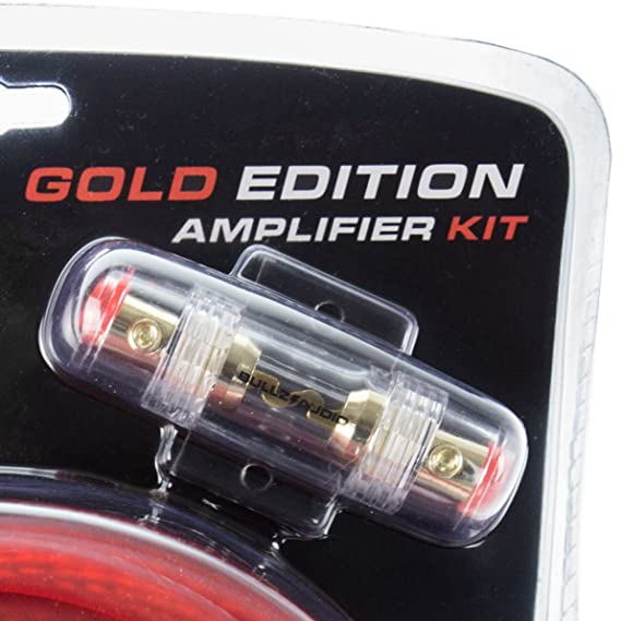 bullz audio 4 gauge 2000w car audio amplifier installation power wiring kit, red Car Speaker Wiring