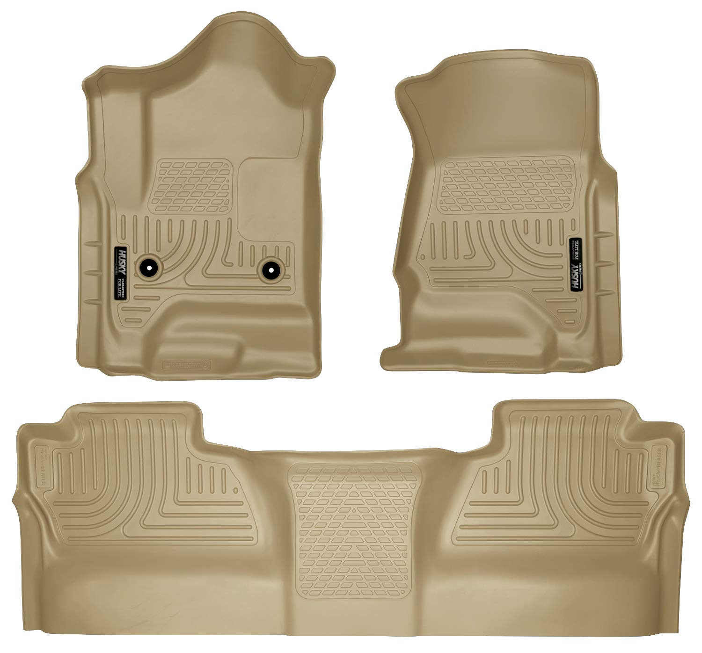 Husky Liners Front & 2nd Seat Floor Liners Fits 14-18 Silverado 1500, 15-19 Silverado 2500/3500, 19 Silverado 1500 LD, 19 Sierra 1500 Limted, Cerw Cab by Husky Liners