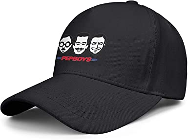 Flat-Along Adjustable Peaked Cap Best Trucker Hat Men//Womens Pep-Boys