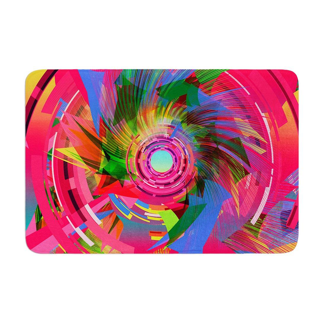 Kess InHouse Danny Ivan Fun Hole Pink Multicolor Memory Foam Bath Mat 17 by 24