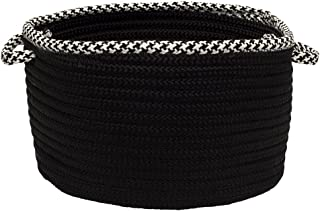 product image for Colonial Mills Hounds Tooth Bright Edge Basket, 14 by 10-Inch, Black