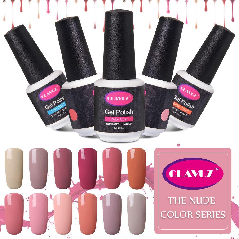CLAVUZ Fast Dry Top Coat Soak Off UV LED Gel Nail Polish 0.27fl.oz ...