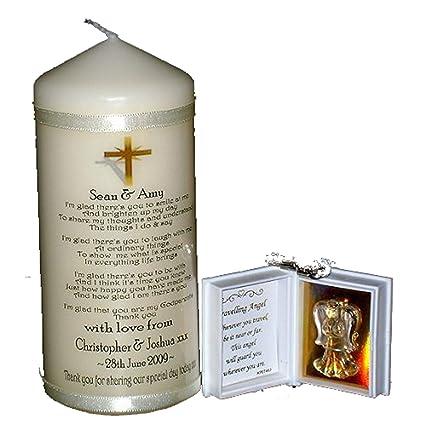 Desconocido Personalizable de agradecimiento por ser my comparador analógico, madrina o bautizo vela de El