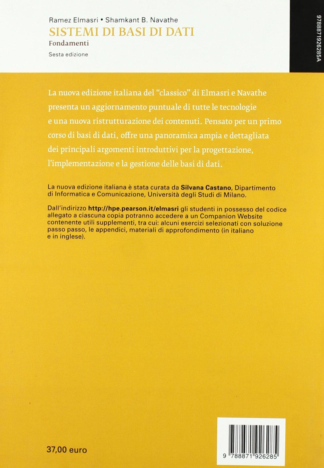 SISTEMI DI BASI DI DATI PDF DOWNLOAD