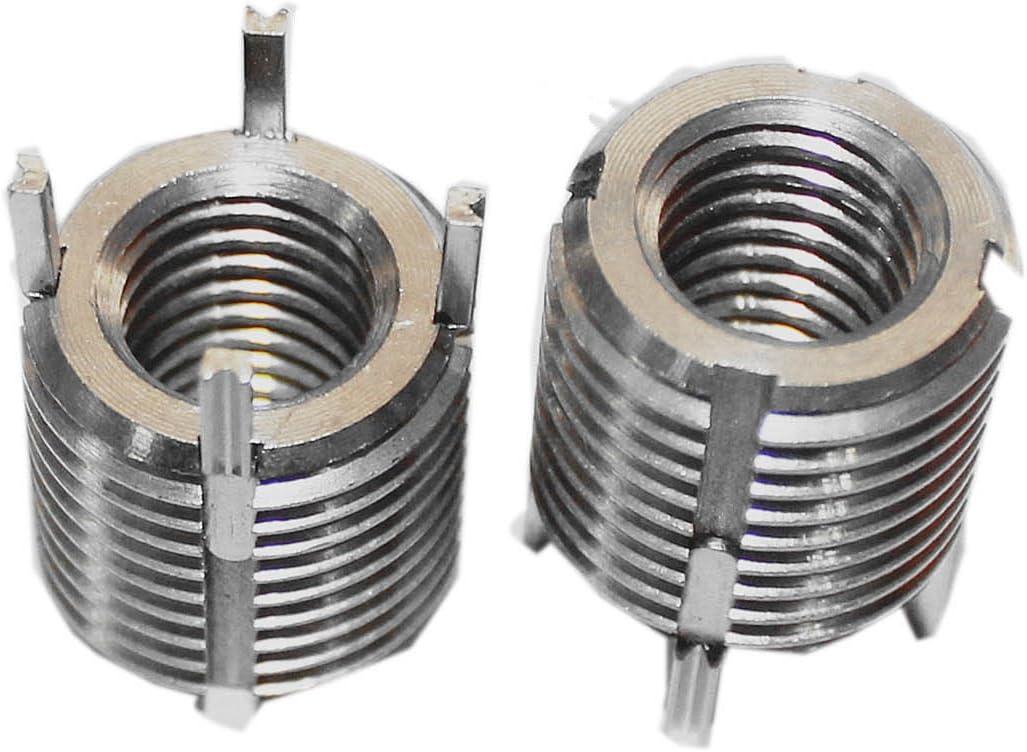 Delisert 20pcs Key Locking Screw Thread Insert Heavy Duty Internal Thread M12X1.75 for Automotive Fasteners