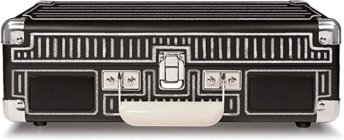Crosley Cruiser Deluxe Tocadiscos Estilo Maletín de Tres Velocidades con Altavoces Estéreo Incorporados, color Negro