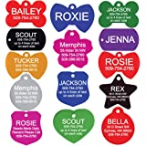 GoTags Custom Engraved Pet ID Tags for Dogs and Cats, Personalized on Both Sides, Many Tag Shapes Including Bone, Heart…