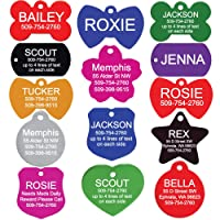 GoTags Pet ID Personalized Pet Tags for Dogs and Cats. Front & Backside Engraving...