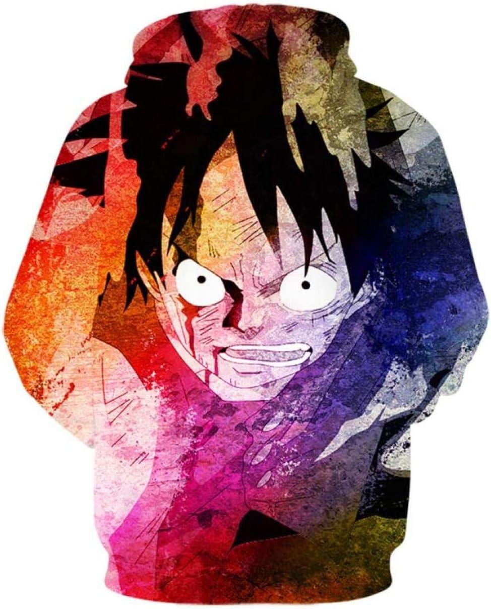 YQSL Jacken Anime Sweatshirt Hoodies 3D-Druck Männer Hooded Casual Langarm Hooded 3XL