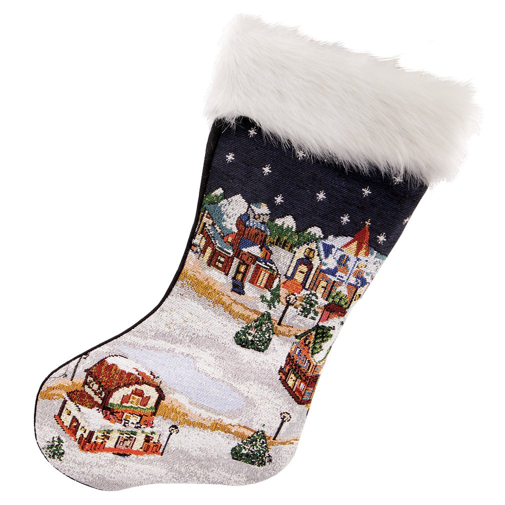 Snowman Needlepoint Christmas Stocking