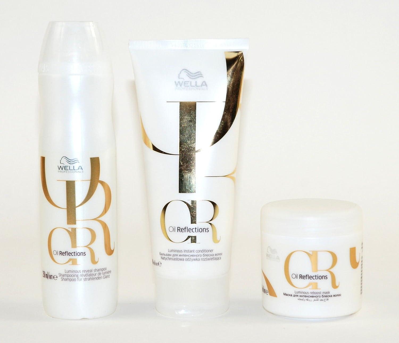 Wella professionisti olio riflessi Luminous shampoo, balsamo e maschera confezione WELLA PROFESSIONALS