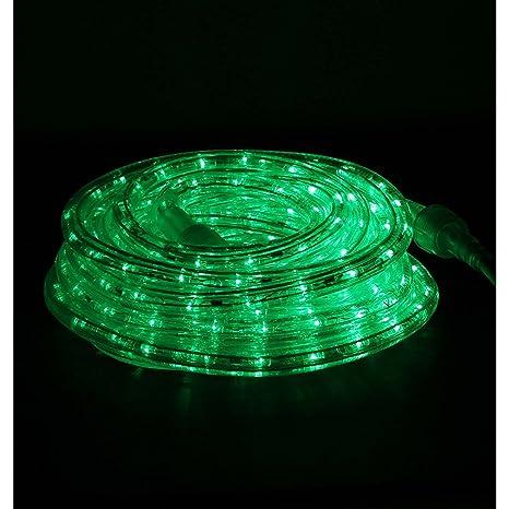 Amazon dd brand 24ft green led rope light expandable to 100 dd brand 24ft green led rope light expandable to 100 ft 120v 2 aloadofball Choice Image